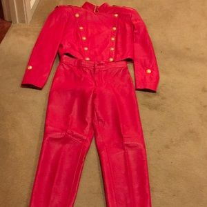 Michael Hoban/North Beach Leather Pant Suit